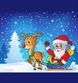 christmas outdoor theme 9 vector image vector image