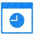 Clock Calendar Page Grainy Texture Icon vector image vector image