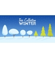 Collection of winter and Christmas snowy trees vector image