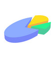 colorful business pie chart for documents vector image vector image