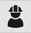 construction worker icon in transparent style vector image