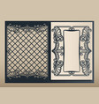 decorative envelope and greeting card template for vector image