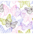 decorative seamless pattern with butterflies vector image