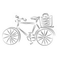 digital abstract painting a vintage bicycle vector image vector image