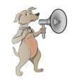 dog with megaphone vector image