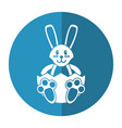 easter bunny with broken egg shadow vector image vector image