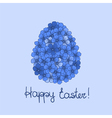 Easter greeting card with flowers vector image