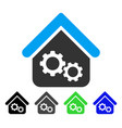 factory house flat icon vector image