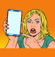 furious woman and smartphone vector image vector image