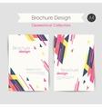 geometrical brochure a4 vector image vector image