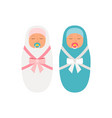 girl and boy babies vector image vector image