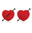 heart love romantic in red vector image
