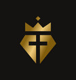 king diamond christian symbol vector image vector image