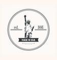 liberty statue logo vector image vector image