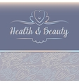 logo depicting shells and pearls Health and beauty vector image vector image