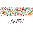 love mexico poster vector image vector image