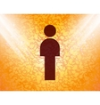 man restroom Flat modern web button and space for vector image vector image