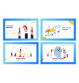 modern business strategy concept landing page set vector image