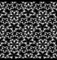 monochrome floral vintage seamless pattern vector image vector image