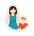 mother and son family reunion vector image