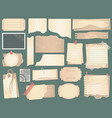 old scrapbook paper crumpled papers pages vector image