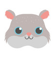 pet little cute hamster rodent head cartoon vector image vector image