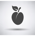 Plum icon on gray background vector image vector image