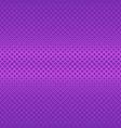 purple symmetrical geometric halftone square vector image vector image