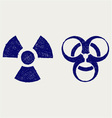 Radioactive and biohazard vector image vector image