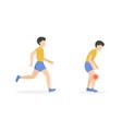 run man pain vector image vector image