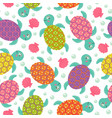 seamless pattern with turtle vector image vector image
