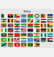 set flags african countries all africa flag