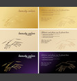 set of business cards cosmetic and manicure vector image