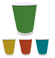 Set of colored paper cups vector image vector image