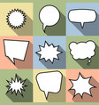set of nine cartoon comic balloon speech bubble vector image