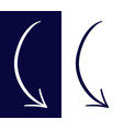 sign of drawn arrows vector image vector image