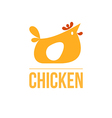 signs and symbols chicken vector image vector image