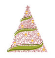 sketch of an abstract christmas tree vector image