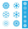 snow elements vector image