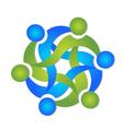 Teamwork business swooshes logo vector image
