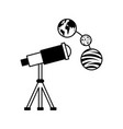 telescope observing the universe vector image vector image
