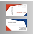 Template business card with LED bulb vector image vector image