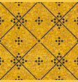 tile decorative floor gold and black tiles pattern vector image vector image