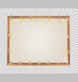 transparent blank wooden board vector image