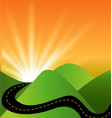 travel landscape sunset view vector image vector image