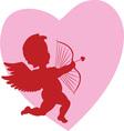 Valentine Cupid vector image vector image