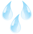 water drops vector image