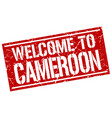 welcome to cameroon stamp vector image vector image