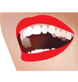 white teeth smile red lip vector image vector image