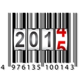 2015 New Year counter barcode vector image vector image